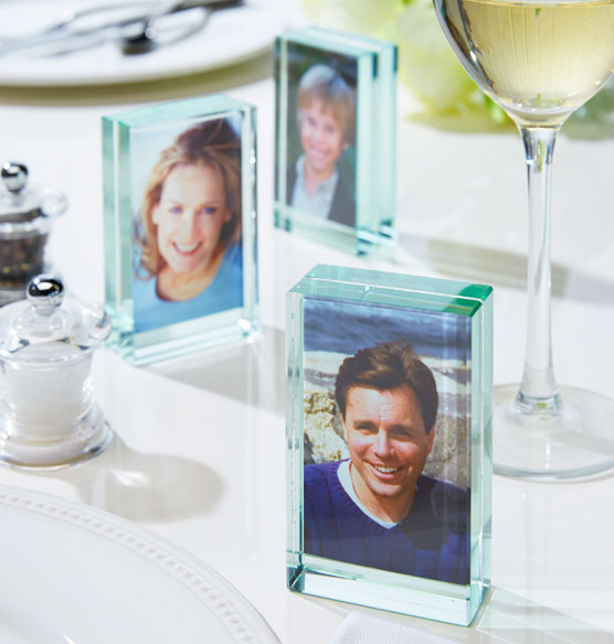 Glass Block Favor Frames, Set of 3
