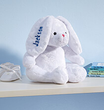 Gifts for Kids - Personalized White Plush Bunny