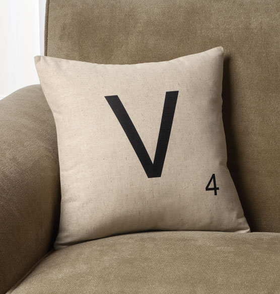 Personalized Letter Tile Pillow