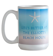 Thank You Gifts - Personalized Beach Mug