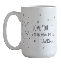 Entertaining for Him - Personalized To the Moon Mug