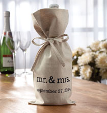 Gifts for the Wine Lover - Mr. & Mrs. Wine Bag