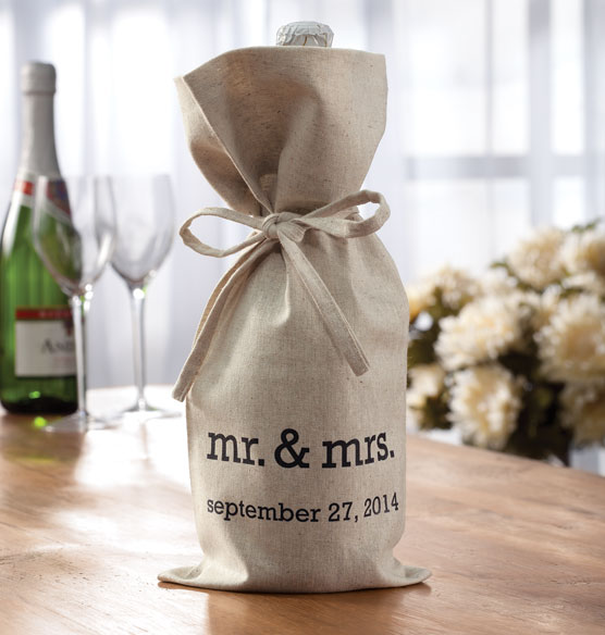 Mr. & Mrs. Wine Bag - View 1