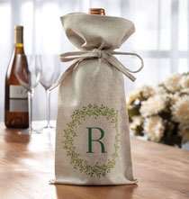 Gifts for the Wine Lover - Personalized Boxwood Wine Bag