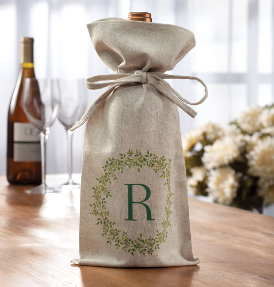 Personalized Boxwood Wine Bag