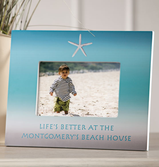 personalized beach frame photo frame custom frame exposures