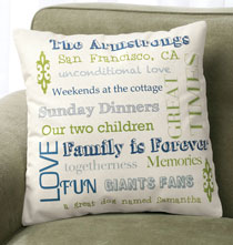 Gifts for Grandparents - Family Story Pillow