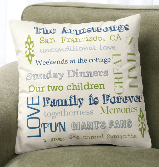 Family Story Pillow - View 1