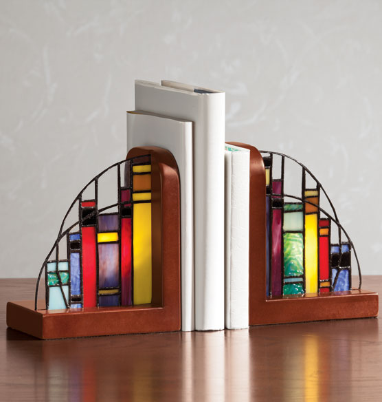 Stained Glass Lighted Bookends Glass Bookends Bookends