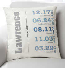 Personalized Pillows - Family Timeline Pillow