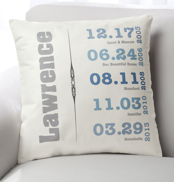 Family Timeline Pillow