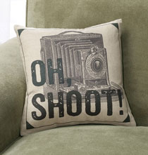 Gifts for the Photo Lover - Oh Shoot! Pillow