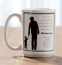 Entertaining for Him - Personalized Father Mug
