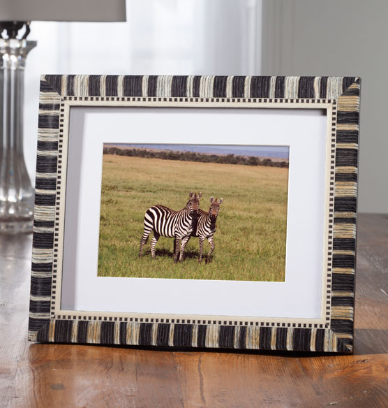 Striped Faux Marquetry Frame