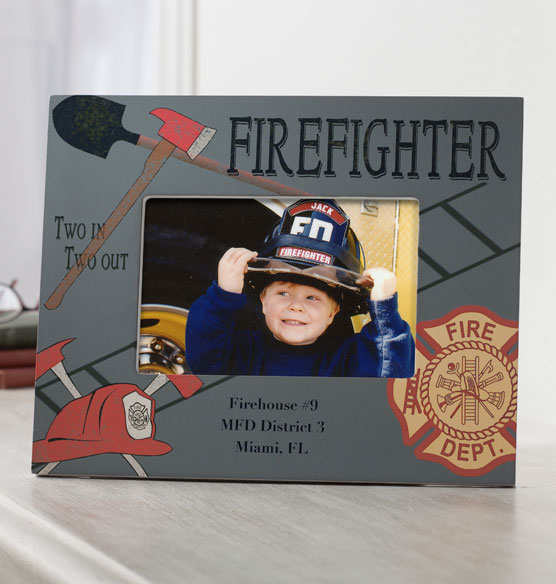 personalized firefighter frame photo frame picture frame exposures