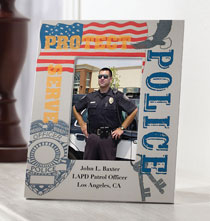 Patriotic - Personalized Police Frame