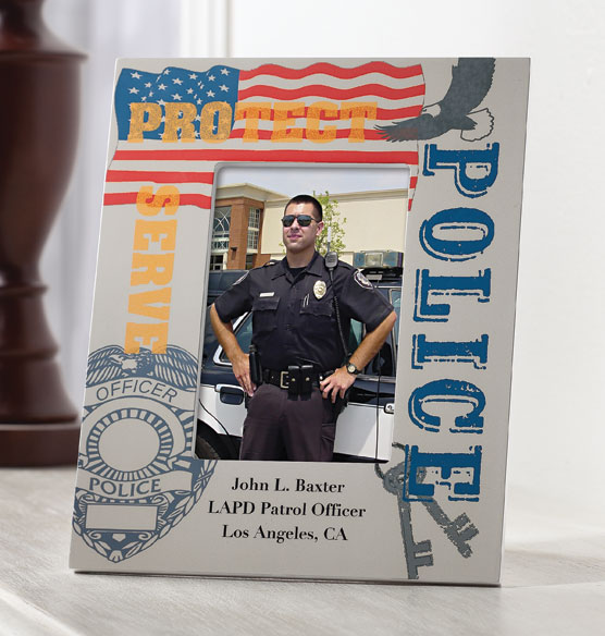 personalized police frame photo frame picture frame exposures