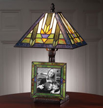 Wedding Gifts - Stained Glass Lamp with Frame