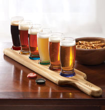 Gifts for Him - Personalized 7-piece beer flight