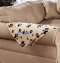 Pillows, Blankets & Throws - Personalized Paw Print Pet Blanket