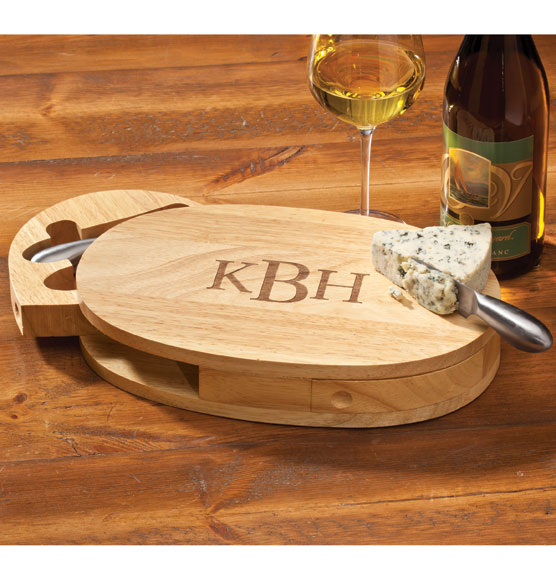 Oval Cheese Board with Utensils