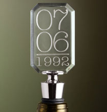 Special Date Bottle Stopper