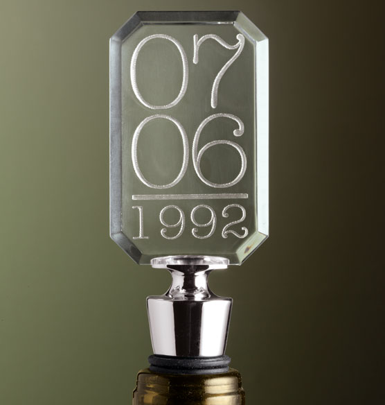 Special Date Bottle Stopper - View 1