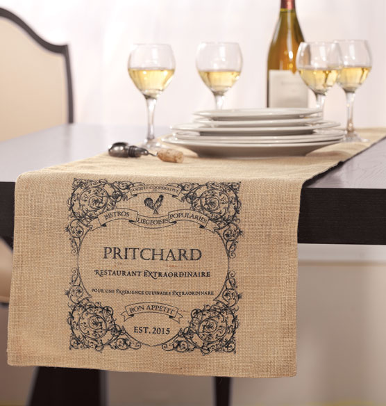 Bistro Personalized Table Runner - View 1