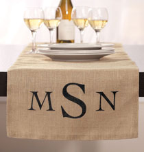 Super Savings - Monogram Personalized Table Runner