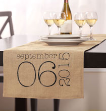 Gifts for the Hostess - Special Date Personalized Table Runner
