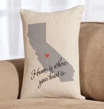 Personalized Pillows - Home State Throw Pillow