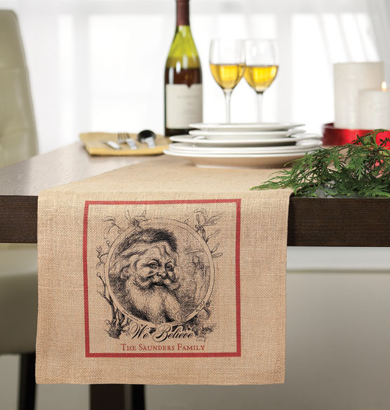 We Believe Personalized Table Runner