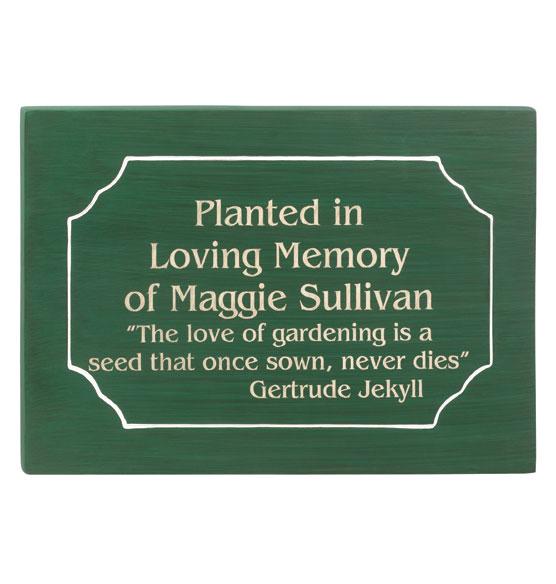 memorial tree plaques