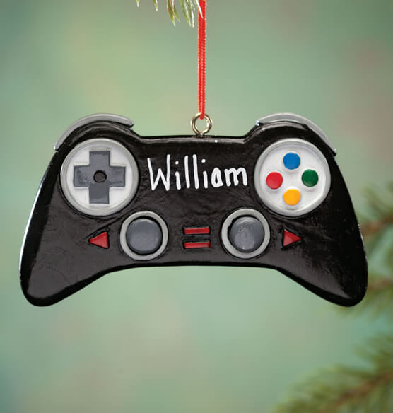 Personalized Video Game Controller Ornament