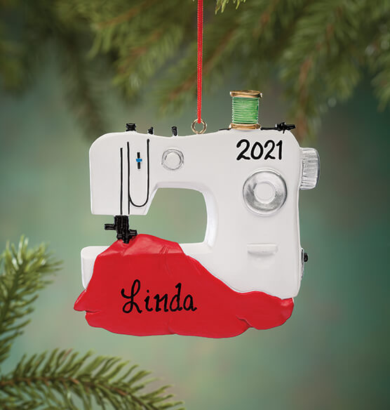 Personalized Sewing Machine Ornament