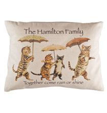 Rain or Shine Personalized Cat Pillow