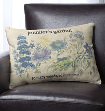 Pillows, Blankets & Throws - Botanical Personalized Pillow