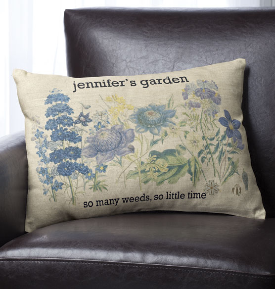 Botanical Personalized Pillow