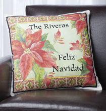 Pillows, Blankets & Throws - Feliz Navidad Personalized Pillow