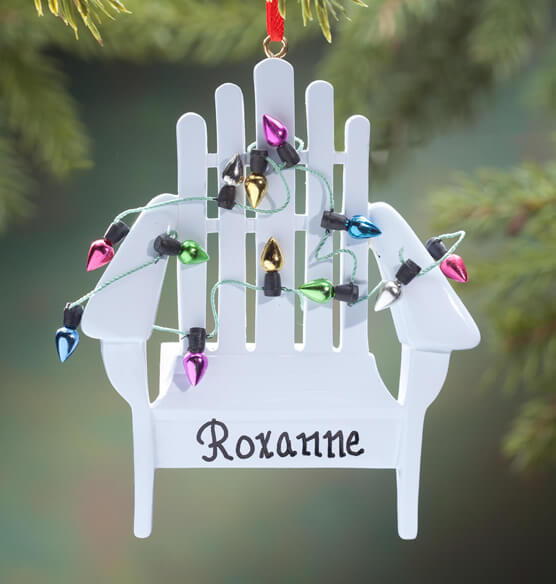 Personalized Beach Chair with Lights Ornament