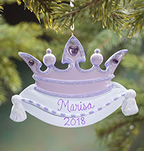 Personalized Purple Crown Ornament