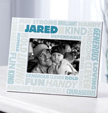 Graduation - Complimentary Personalized Word Cloud Photo Frame for Men