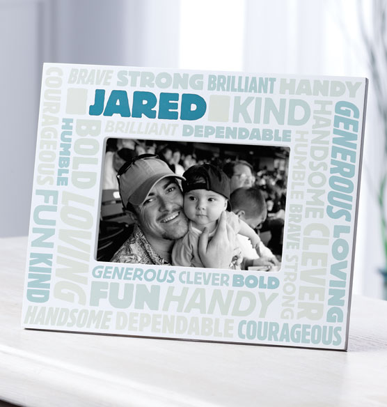 Complimentary Personalized Word Cloud Photo Frame for Men