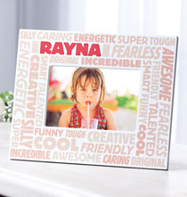 Complimentary Personalized Word Cloud Photo Frame for Children