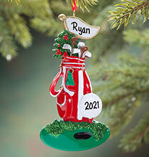 Golf - Personalized Golf Bag Ornament