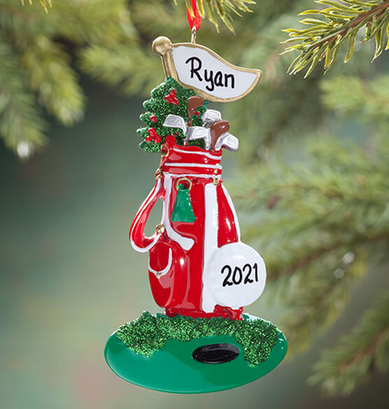 Personalized Golf Bag Ornament