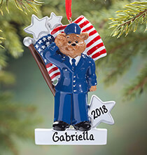 Personalized Air Force Bear Ornament
