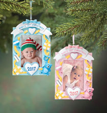 New Baby Gifts - Personalized Baby's First Christmas Frame Ornament