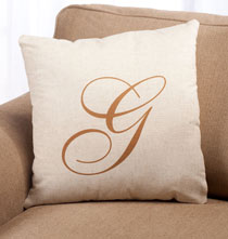 Personalized Pillows - Script Monogram Pillow 18 x 18