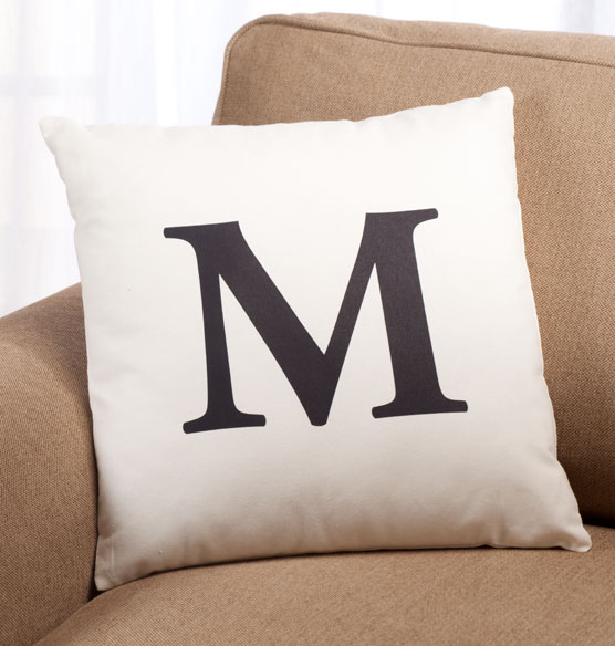 Times Monogram Pillow 18 x 18